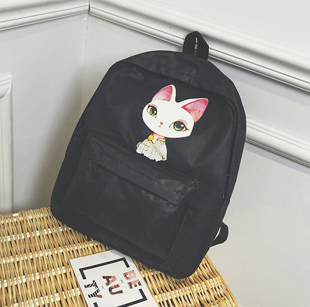 Милые тканевые рюкзаки с принтом ушастого кота