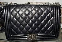 Женская сумка клатч Chanel Boy (Шанель Бой) 8431 черная