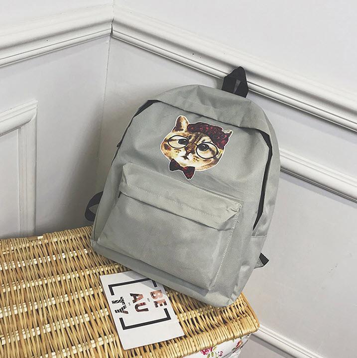 Милые тканевые рюкзаки с принтом кота