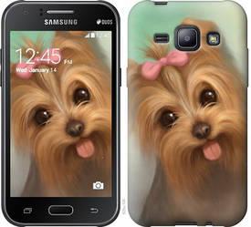 "Чехол на Samsung Galaxy J1 J100H Нарисованный йоркширский терьер ""928c-104-328"""