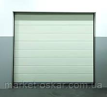Готові гаражні секційні ворота Doorhan ширина 2500 висота 2200 білі