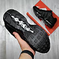 Кроссовки мужские Nike black топ реплика, фото 3