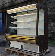 "Холодильная Горка ( РЕГАЛ) ""COLD R-20"" 2.0 м. (Золото) БУ, фото 1"