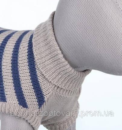 TX-67541 Свитер для собак МИЛТОН XS   27см,  серый/синий, демисезон, фото 2