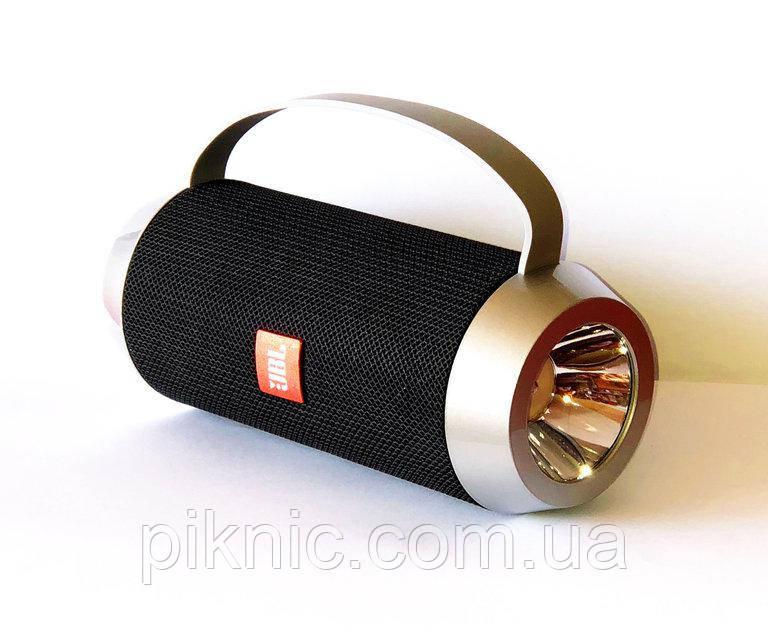Бездротова колонка Charge J5 з вбудованим ліхтариком. Портативна Bluetooth колонка Чорний