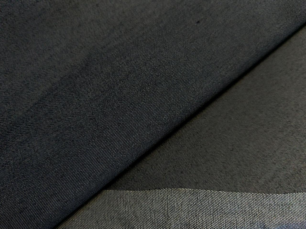 Джинс тенсел полированый, черный