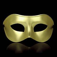Венецианская маска мужская золото