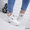 Кроссовки женские Fila Raptor белые 5594 спортивная обувь