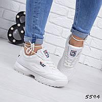 Кроссовки женские Fila Raptor белые 5594 спортивная обувь, фото 1