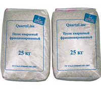 Песок кварцевый, фракция от 1,2 - 1,6мм, мешок 25 кг