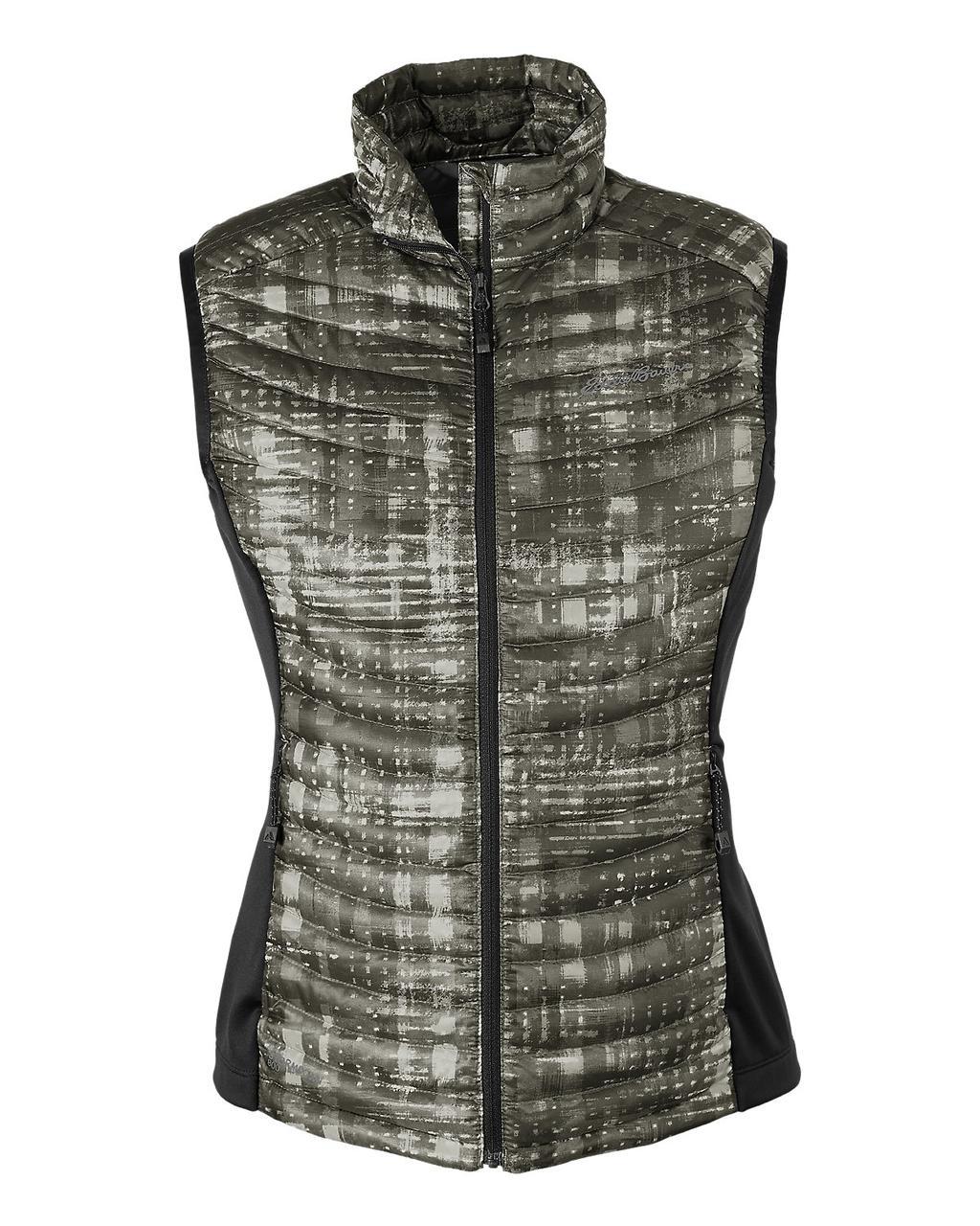 Женская жилетка дутая Eddie Bauer Womens MicroTherm StormDown Vest CARBON