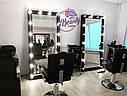 Высокое зеркало с лампами, черный цвет, фото 2