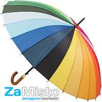 Зонт-трость Радуга (16 спиц, анти-ветер)