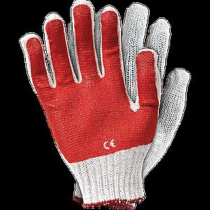 Защитные перчатки, RR WC 8 трикотажные, со смесью латекса и ПВХ. бело-красного цвета. REIS