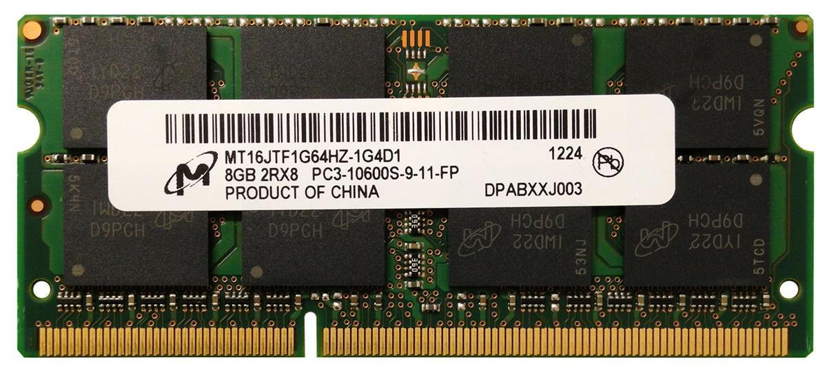 "Оперативная память Micron/Dell MT16JTF1G64HZ/SNPYR6MNC/8G DDR3/1333MHz/8GB/SO-DIMM ""Over-Stock"" Б/У"