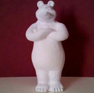 Гипсовая фигурка для раскрашивания статуэтка. Гіпсова фігурка для розмальовування. Медведь