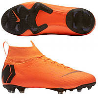 ba194315 Детские футбольные бутсы Nike Mercurial Superfly 6 Elite FG Junior Orange  AH7340-810