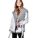 Куртка женская косуха осенняя  в виде дубленки, фото 2