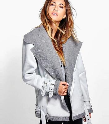 Куртка женская косуха осенняя  в виде дубленки