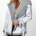 Куртка женская косуха осенняя  в виде дубленки, фото 4