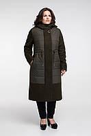 Стильное теплое пальто на слимтексе размер от 48 до 62