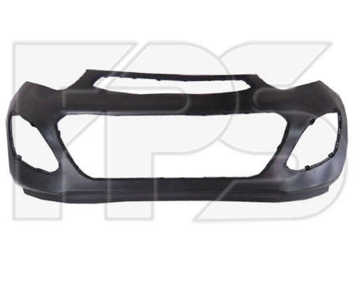 Передний бампер Kia Picanto (11-14) черный (FPS), фото 2