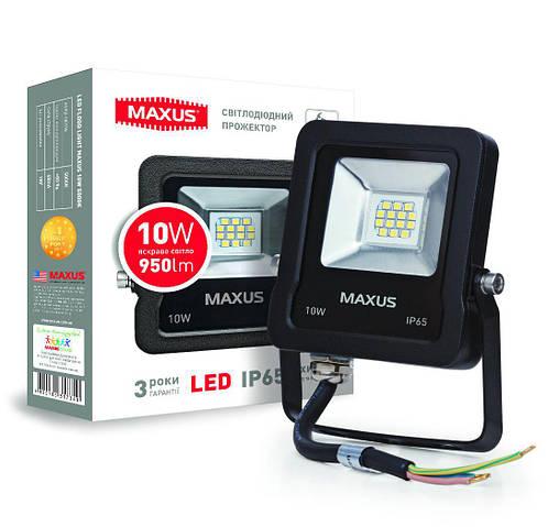 Светодиодный прожектор MAXUS 1-MAX-01-LFL-1050 10W 5000K