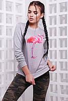Свитшот женский с фламинго KF-1587C