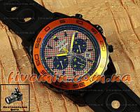 Мужские наручные часы Breitling Navitimer Cosmonaute Black Orange спортивный стиль