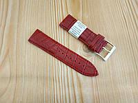 """Кожаный ремешок для наручных часов - светло коричневый (вишневый)- """"Nagata"""" 24 мм Spain"""