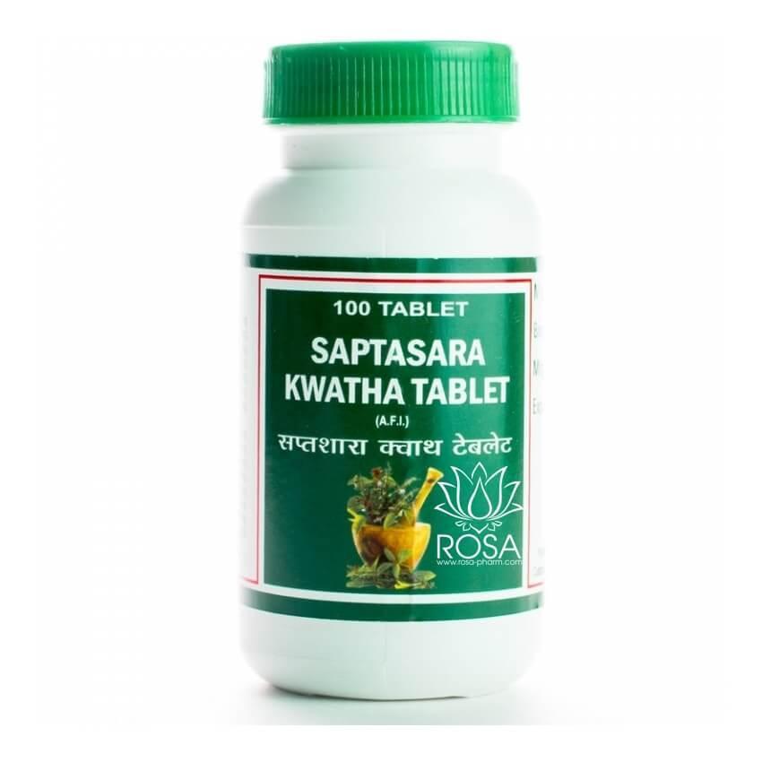 Саптасара Кашая (Saptasara Kwatha Tablet) нерегулярный цикл, расстройства ЖКТ, 100 таблеток