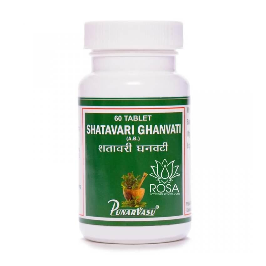 Шатавари Экстракт (Shatavari Ghanvati, Punarvasu), 60 таблеток