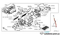 Зливний шланг печі Nissan Leaf ZE0 / AZE0 (10-17) 92590-3NA0A