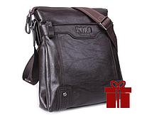 Кожаная мужская сумка Polo Videng Vintage в двух цветах !Коричневый