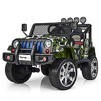 Дитячий електромобіль камуфляжний 4 мотора, фото 1