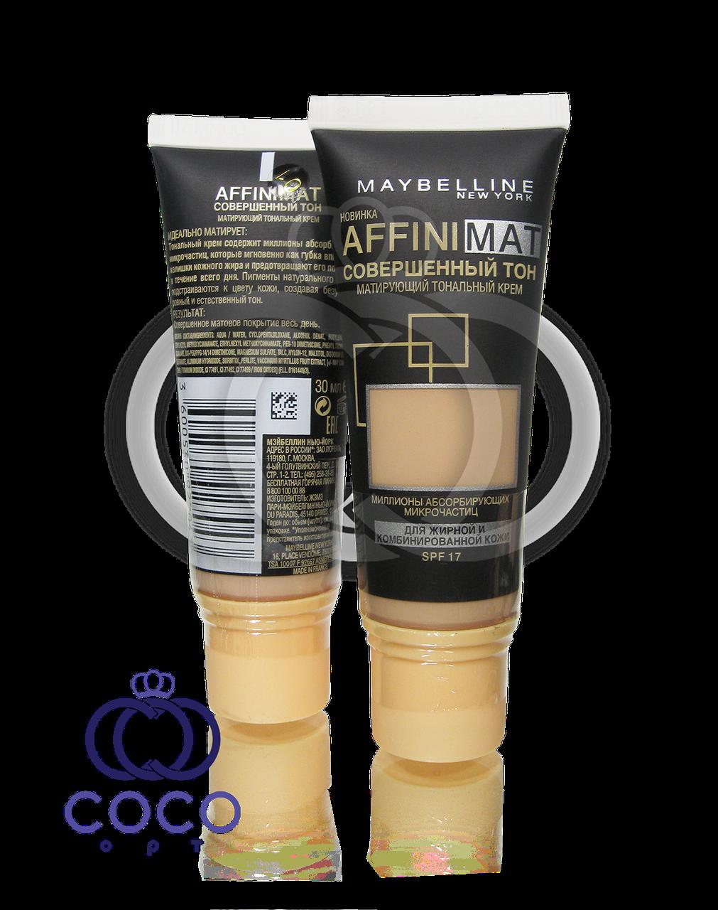 Матирующий тональный крем Maybelline Affinimat SPF 17