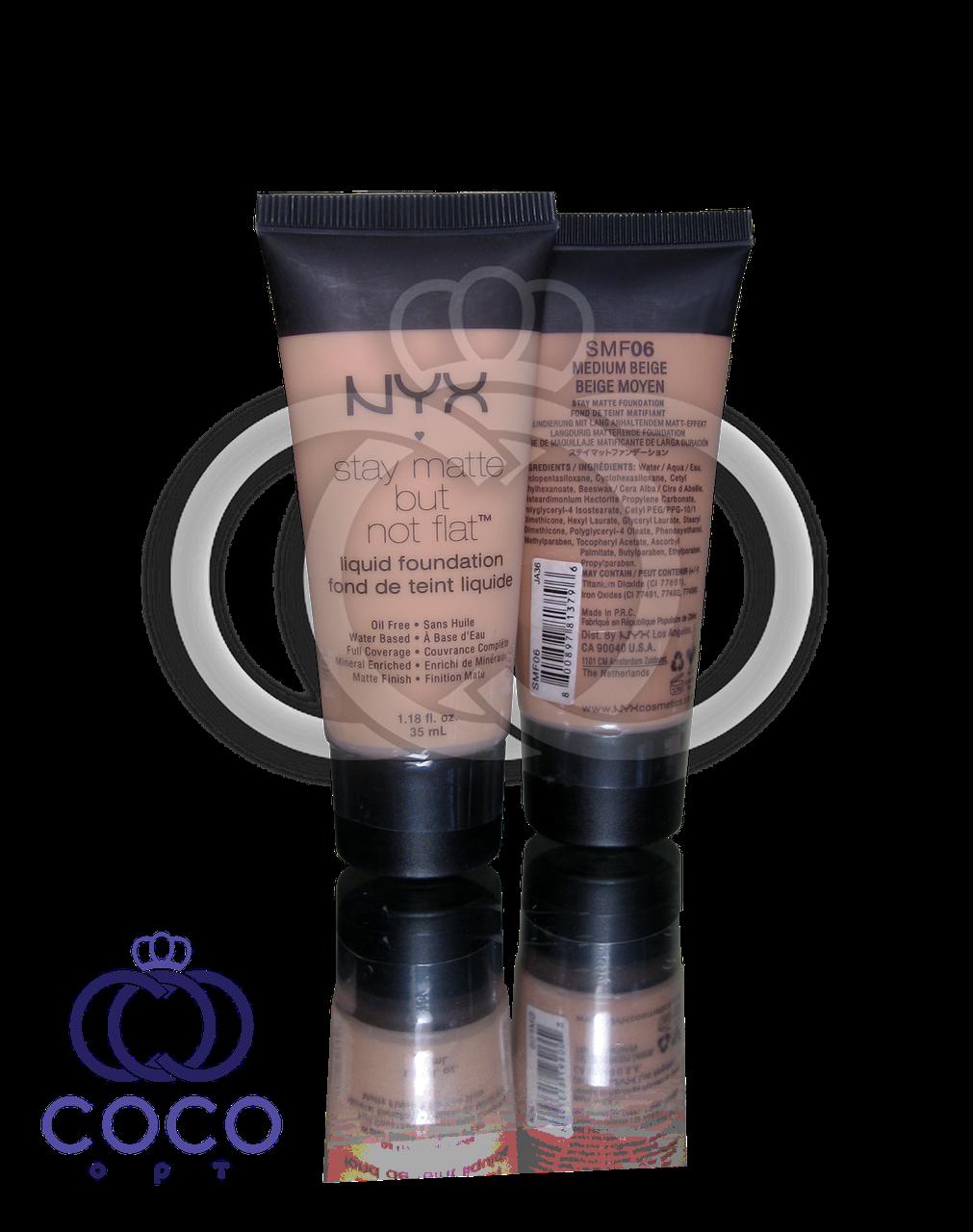 Тональный крем NYX Stay Matte But Not Flat Liquid Foundation