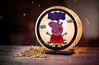 Соляная лампа HealthLamp Свинка Пеппа | Ночник из природной соли с регулятором яркости