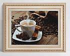 Алмазная вышивка, кофе 25х20 см, квадратные стразы, полная выкладка, фото 2