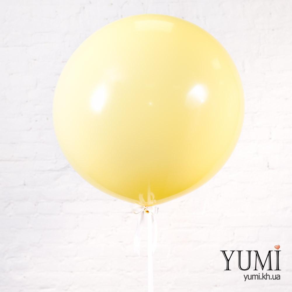 Стильный гелиевый шар-гигант цвета айвори