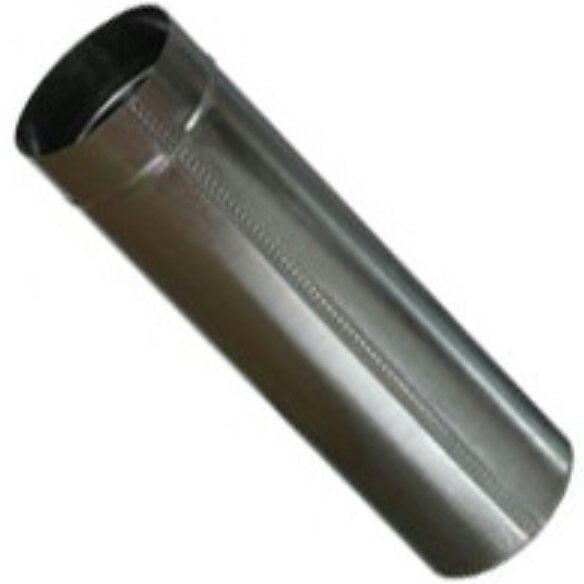 Труба дымоходная 0.5 метра х 140 мм х 0.45 мм оцинкованная (вентиляционная)