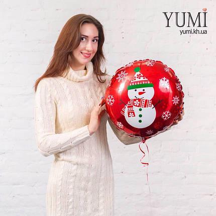 Фольгированный гелиевый шар со снеговиком, фото 2
