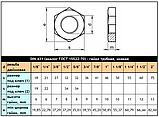 DIN 431 (ГОСТ 15522-70) Нержавіюча гайка трубна, низька, фото 7
