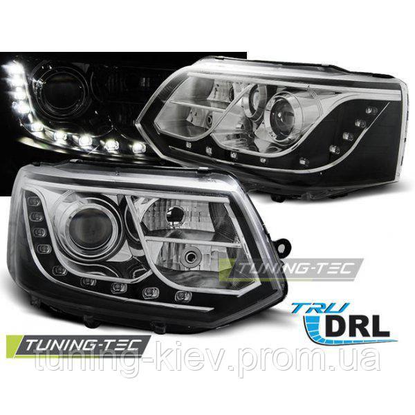 Передние фары VW T5 2010-2015 TRU DRL