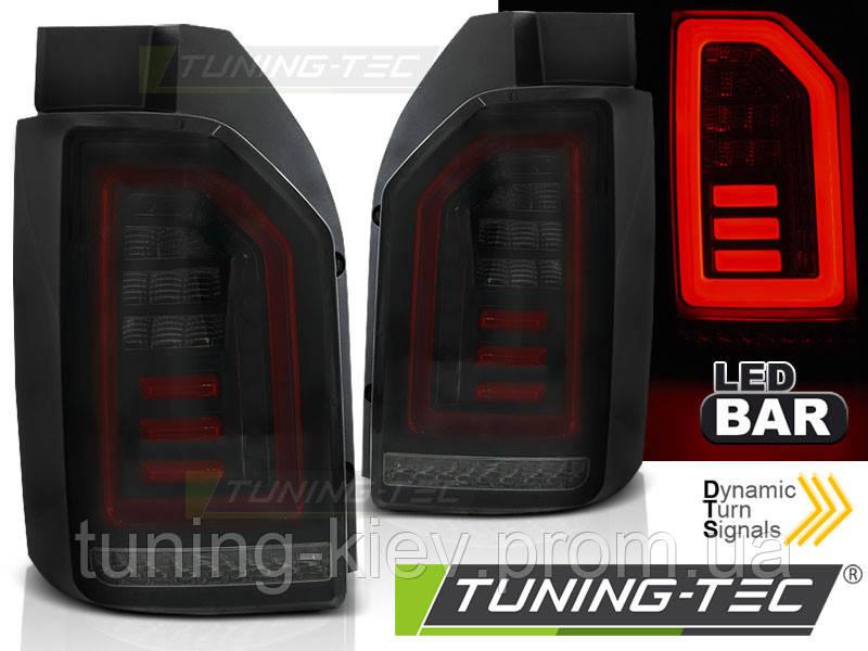 Задние фонари VW T6 2015- SMOKE BLACK RED LED