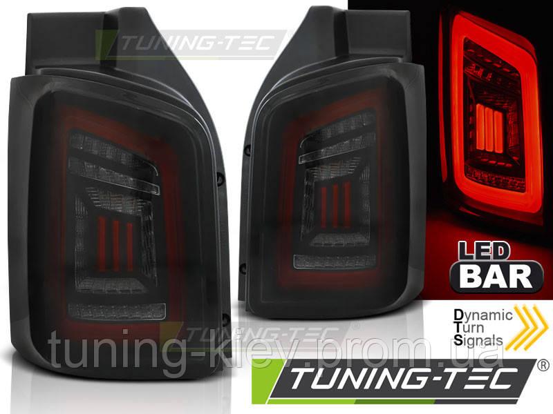 Задние фонари VW T5 04.03-09 / 10-15 SMOKE BLACK RED LED TRANSPORTER