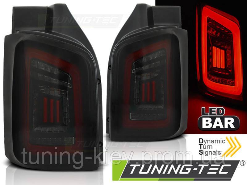 Задние фонари VW T5 04.03-09 / 10-15 SMOKE BLACK RED LED