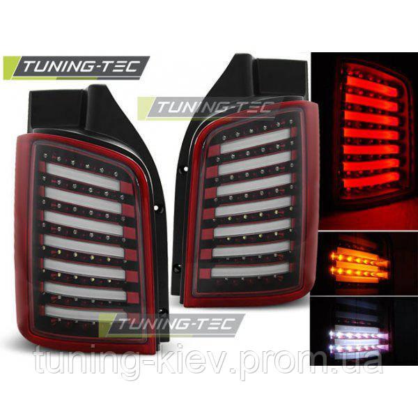 Задние фонари VW T5 04.03-09 / 10-15 RED WHITE LED