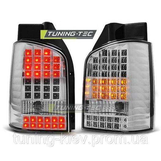 Задние фонари VW T5 04.03-09 CHROME LED