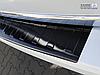 Накладка на бампер с загибом и ребрами Volkswagen Transporter T6 Furgon (черная), фото 2